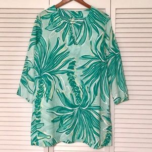 Lilly Pulitzer Marco Island Tunic, Tiger Palm, Med